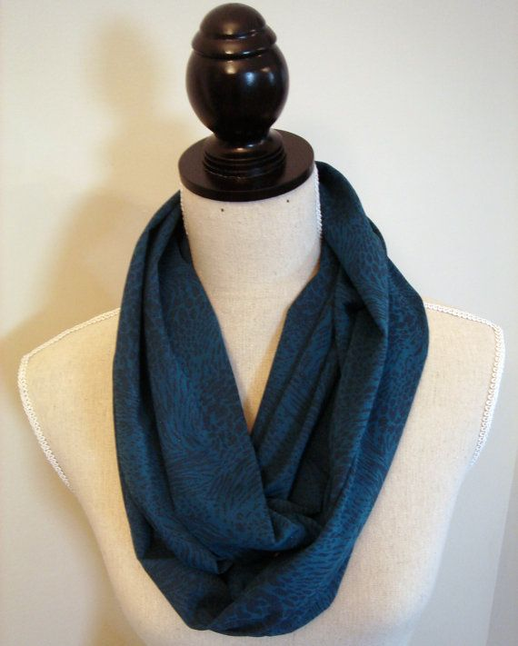 Teal Infinity Scarf - Eternity Scarf Loop Scarf on Etsy