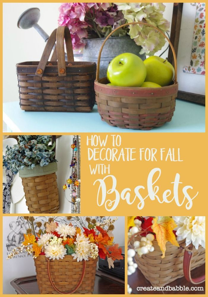 How To Decorate For Fall With Baskets Decorating Falldecorating Falldecor Createandbabble