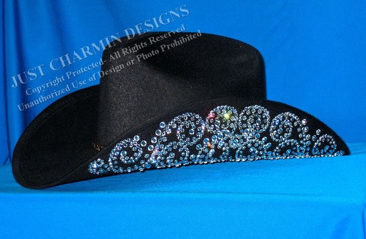 Just charmin 39 designs bling cowboy hat cowgirl hats for Show me western designs