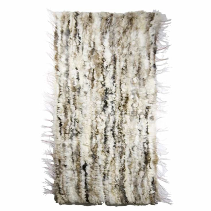 GIE EL 'Recycled' Natural Fur Rug - Bright Melange 60x160cm - Design Shop