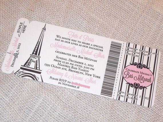 Deposit - Paris Boarding Pass Invitations