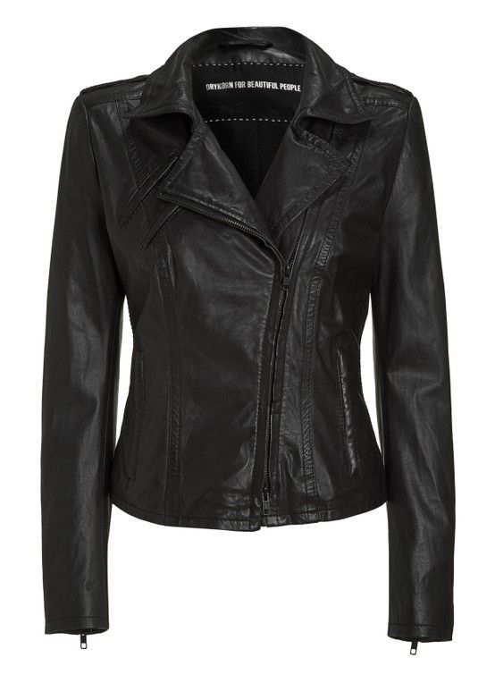 can't do without sophisticated leather... #drykorn #jacket #wantneedmusthave