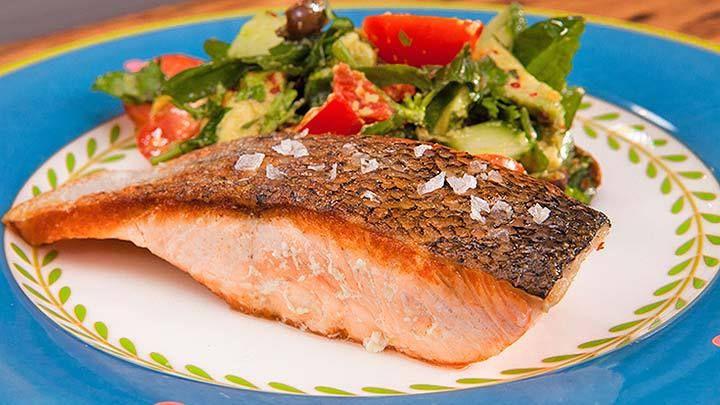 Charlie's Salad with Crispy Salmon