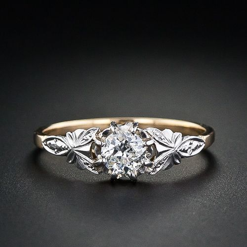 .35 Carat Vintage Diamond Wedding Ring. No on the gold, but the sides are gorgeous.