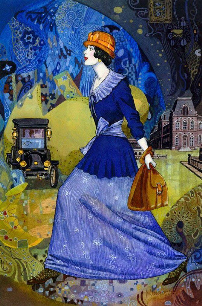 Картины в стиле арт-деко от Хелен Лам