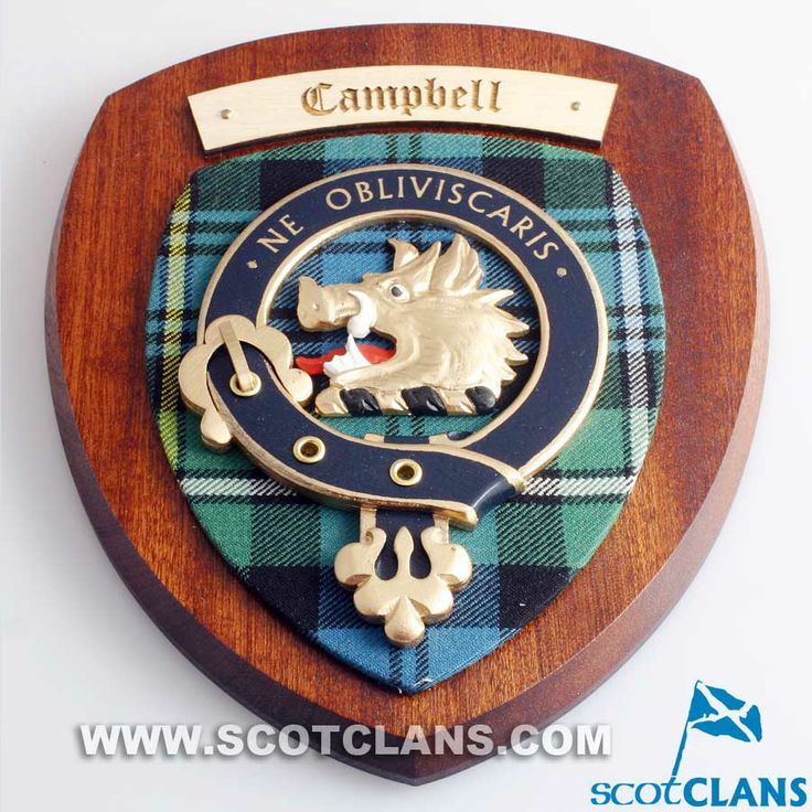 Scottish Clan Tattoos: Campbell Clan Crest Wall Plaque
