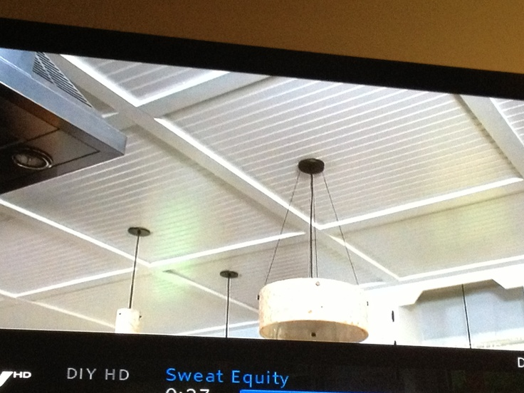 Beadboard Coffered Ceiling From Sweat Equity On Diy