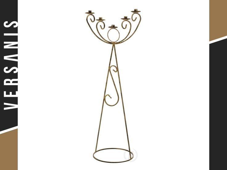 dekorativer kerzenst nder aus metall hoch kerzenhalter kerzenst nder hoch kerzen. Black Bedroom Furniture Sets. Home Design Ideas