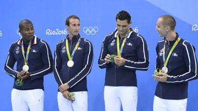 CELEBRITES CINEMA ET STARS: JO de Rio : le relais 4x100 mètres en argent, prem...