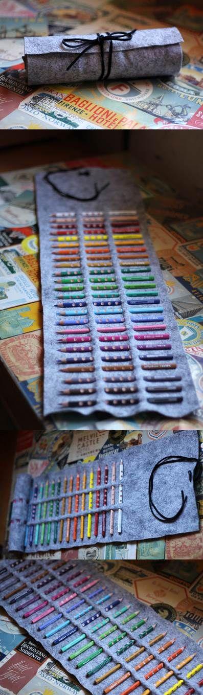 Super Easy! No-Sew Colored Pencil Roll | DIY Stuff