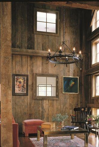 Barnwood Paneling Living Room | Carlisle Wide Plank Flooring