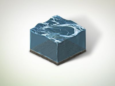 Isometric Water Tile by Andy Mindler