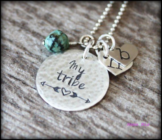 My Tribe Necklace My Tribe Jewelry Hand Stamped My by mamamiatina
