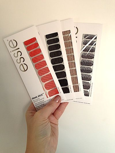 Makeup Review, Designs: Essie Sleek Stick Nail Art Decal Collection -How To Apply Nail Stickers