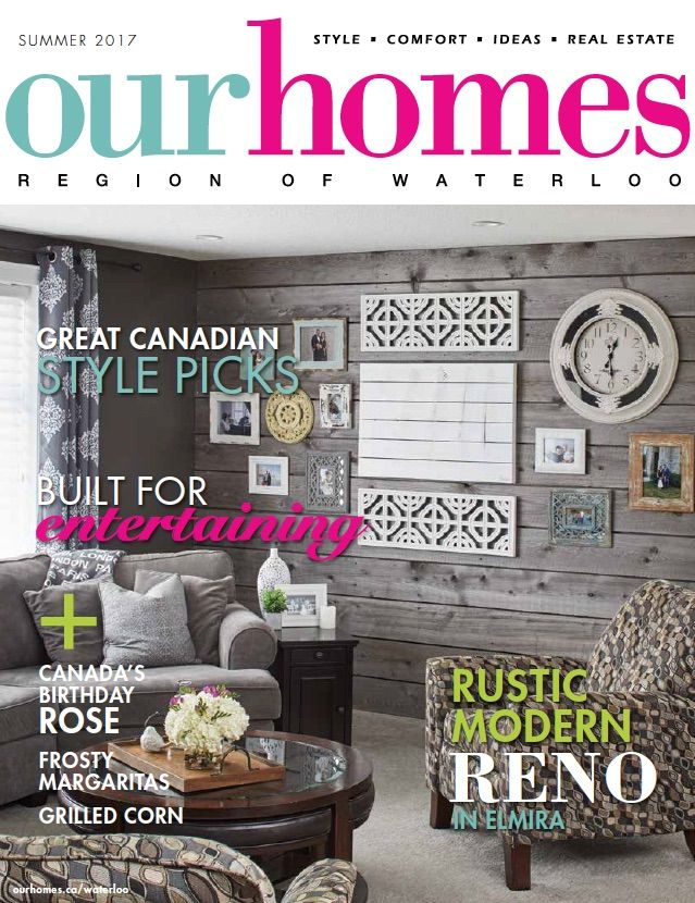 OUR HOMES Waterloo Summer 2017. Read this issue at http://www.ourhomes.ca/articles/blog/article/on-stands-our-homes-waterloo-summer-2017