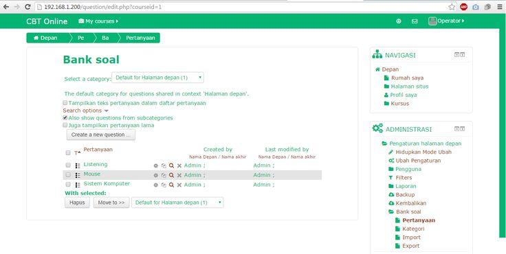 Aplikasi Ujian Online (CBT Online) Berbasis Open Source   Teguh Computer