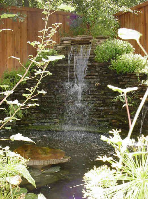 Garden Waterfall And Pond