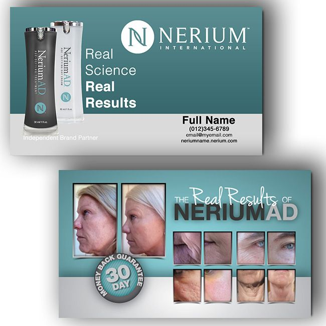 Nerium business cards n1016