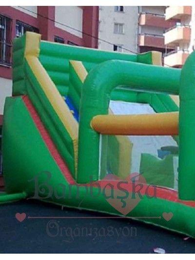 Dev Yeşil Kaydırak Kiralama  Şişme Oyun Parkı Kiralama www.bambaskaorganizasyon.com/sisme-oyun-parki-kiralama.html