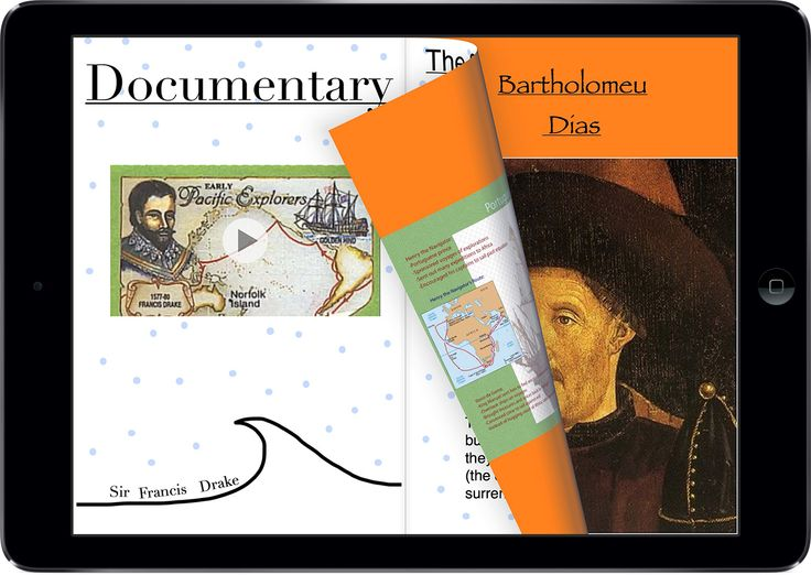 'Book Creator and the Age of Exploration' by Jeremy Reid. Having students research and create content that can be collated into an ebook allows for authentic real world assignments.