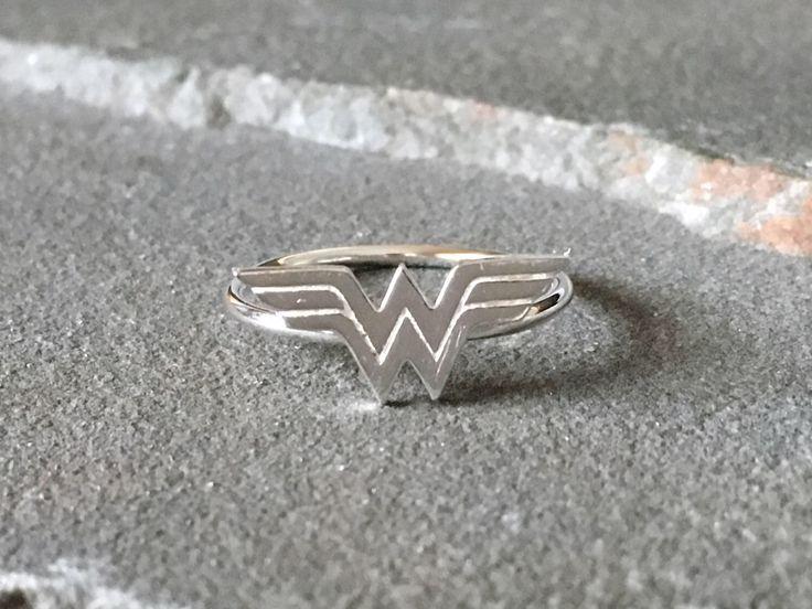Sterling Silver Wonder Woman Ring, Wonder Woman Ring, Superhero Ring, Superhero Jewelry, Comic Con Jewelry, Superhero Ring, Novelty Ring by SilverSculptor on Etsy https://www.etsy.com/listing/507028848/sterling-silver-wonder-woman-ring-wonder