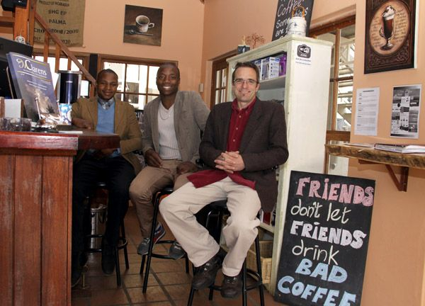 Chris Pefanis ... HIGHLAND COFFEE GURU ... and his talented team of maestro coffee makers. Your stay in Clarens wont be complete without a liesurely hour or two spent in the sun sipping a cup of the good stuff from HIGHLAND COFFEE ROASTERY