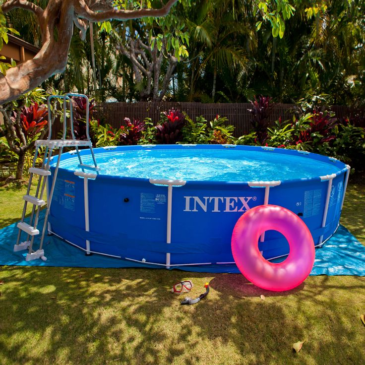 kit piscine tubulaire metal ronde cm accessoires ForAccessoire Piscine Intex
