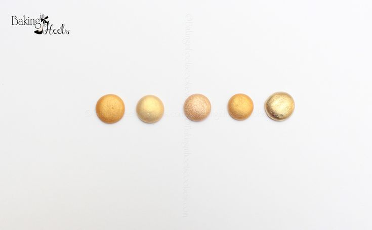 How to Make Gold Royal Icing — a review of gold luster dusts.