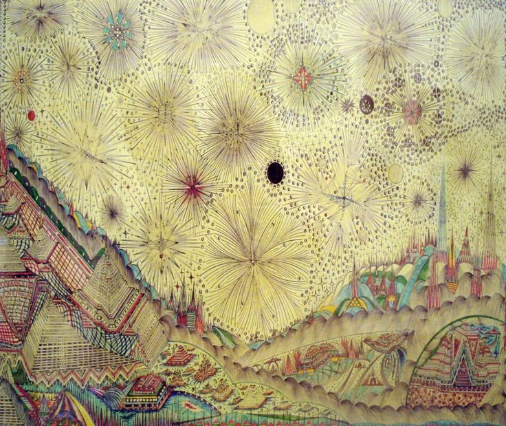 Uruguayan born Alexandro Garcia - a gardener with no experience in art, a UFO sighting changed his life and has since inspired this amazing work! #art #painting #drawing
