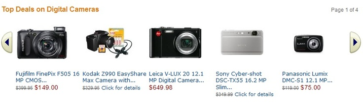 Digital cameras discount April 2012, Amazon coupon codes 2012 update