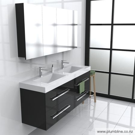 Future 1500 4 Drawer Double Wall Vanity - Bathroom Furniture - Bathroom