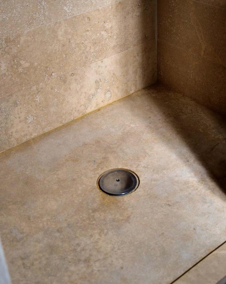 Piatto doccia in Pietra di Rapolano modello FLAT  #travertine  www.pietredirapolano.com
