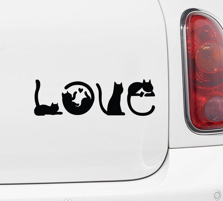 Cats spell love car vinyl decal sticker copyright yadda yadda design co x color choices approx size as shown x instructions link to video and