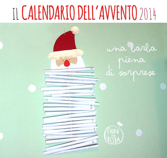 FIORI IN TESTA: CHRISTMAS time: CALENDARIO DELL'AVVENTO 2014 ovvero Una barba piena di sorprese