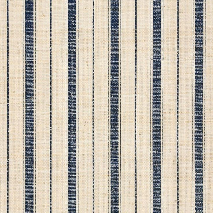 Navy Ticking Stripe 5610 blue and ivory grasscloth