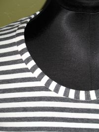 Sewing techniques, stretch necklines