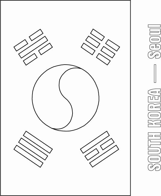 South Korea Flag Coloring Page Awesome 54 Best Images About Korean