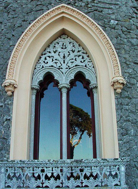 .Doors, Church Windows, Sintra Portugal, Blue, Balconies, Colors, Gothic Architecture, Aqua, Arches Windows