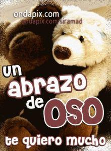 abrazo de oso #abrazos | Tarjetitas