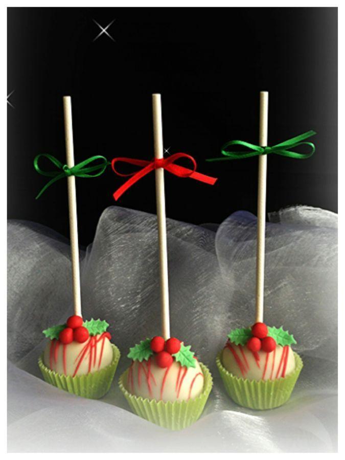 Christmas Cake Pops in Keto verwandeln, Deko idee
