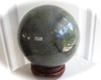 Very Large Labradorite Crystal Sphere Ball