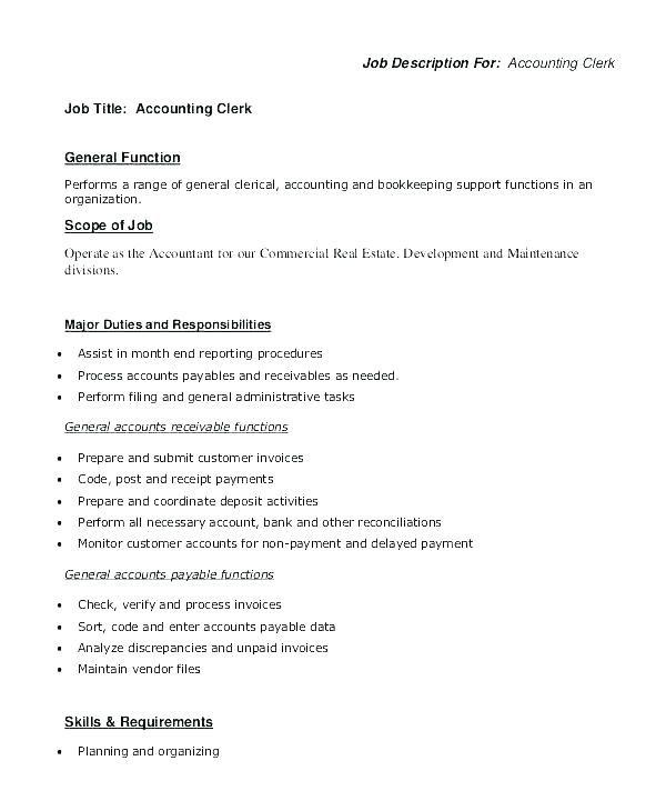Accounts Payable Resume Example Accounts Receivable Job
