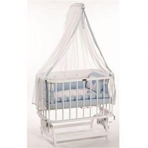 Baby Tech Anne Yanı Beşik Beyaz Mavi