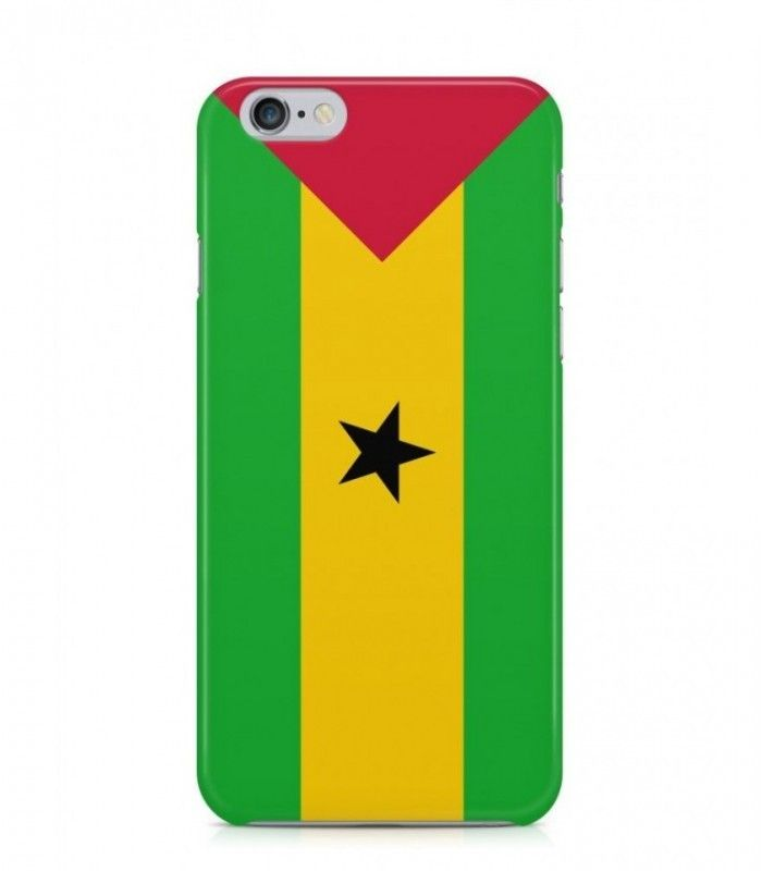 Sao Tomean Flag 3D Iphone Case for Iphone 3G/4/4g/4s/5/5s/6/6s/6s Plus - FLAG-ST - FavCases