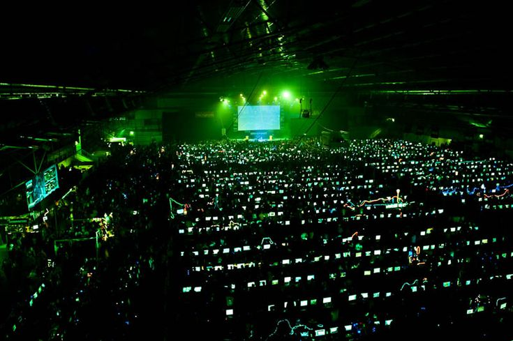 DreamHack, world's largest LAN-party. It's arranged twice annually at the Elmia exhibition centre in Jönköping, Sweden