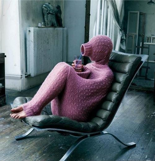 Hee-hee. Extreme snuggie.: