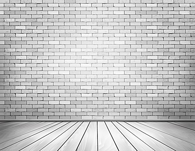 Vector White Brick Wall Texture Perspective Background Floor White Brick Brick Wall White Brick Walls