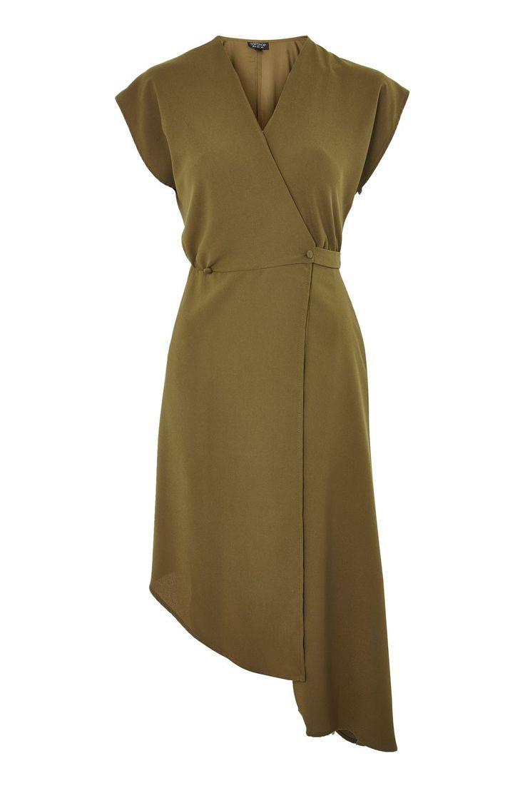 Asymmetric Wrap Dress - Topshop USA