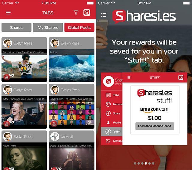 Sharesi.es Launches Reward Social Networking Platform on Mobile