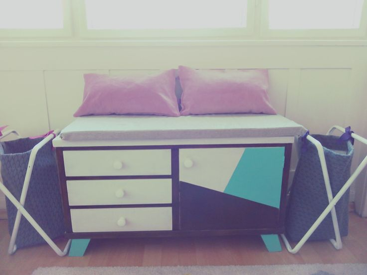 upcycled drawer for kids. I named it Gilda.